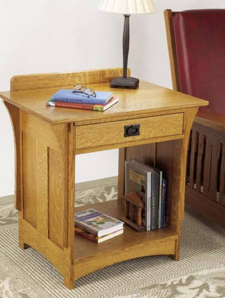Arts and Crafts Nightstand Woodworking Plan.