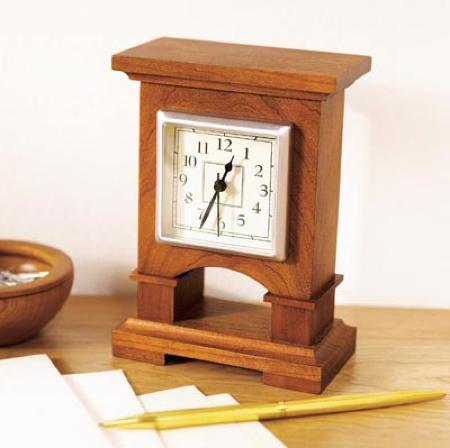 31-MD-00434 - Easy to Make Desk Clock Woodworking Plan