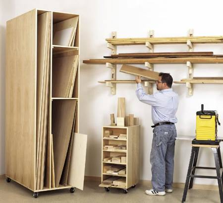 Triple Threat Lumber Storage Woodworking Plan