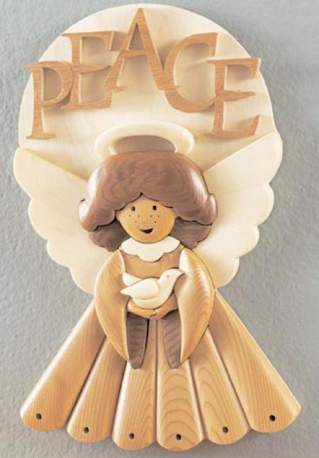 31-MD-00445 - Intarsia Masterpeace Angel Woodworking Plan