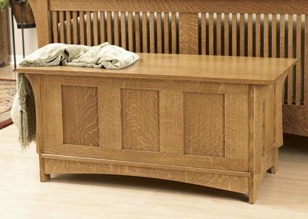 31-MD-00446 - Arts and Crafts Blanket Chest Woodworking Plan.