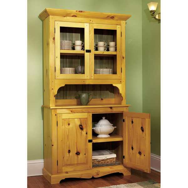 Pine Hutch Woodworking Plan.