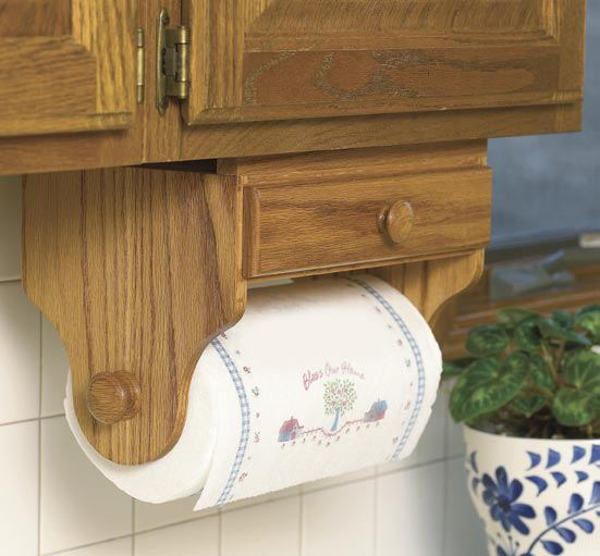 Double Duty Paper Towel Holder Woodworking Plan