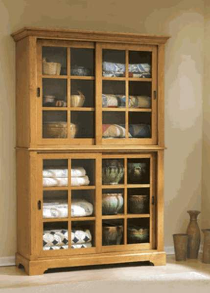 31-MD-00455 - Sliding Door Cupboard Woodworking Plan