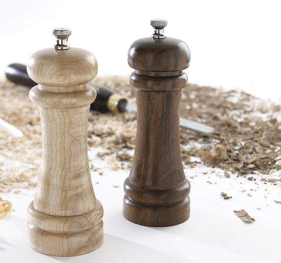Salt and Pepper Mills Woodworking Plan