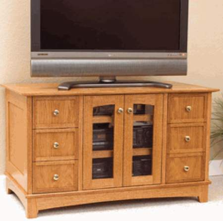 Compact Entertainment Center Woodworking Plan.