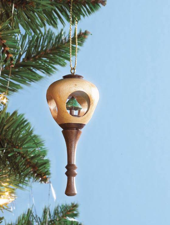 Peek Through Holiday Ornament Woodworking Plan