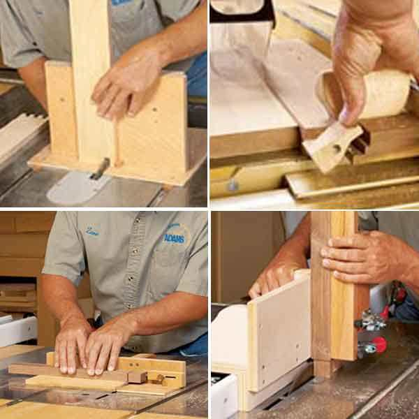 4 Task Tackling Tablesaw Jigs Woodworking Plan