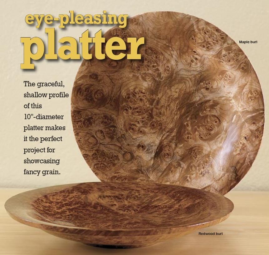 31-MD-00499 - Turned Platter Woodworking Plan