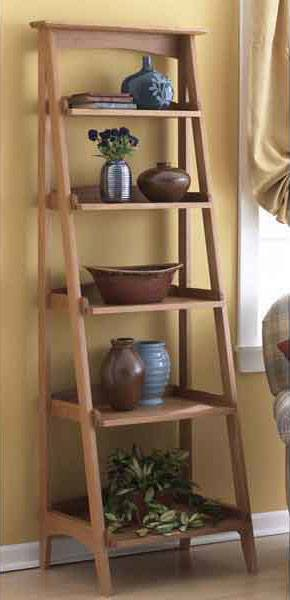 Ladder shelves woodworking plan woodworkersworkshop for Wood craft shelves