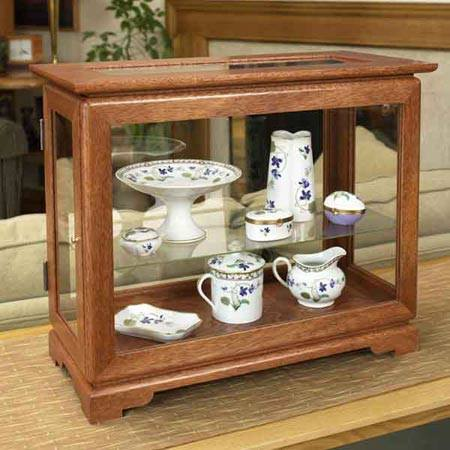 Tabletop Display Case Woodworking Plan