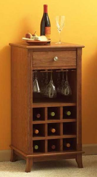 Wine Cabinet Woodworking Plan.