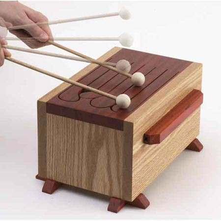 Tongue Drum Woodworking Plan.