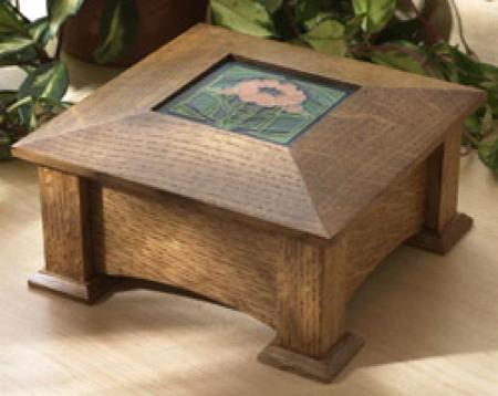 Tile Topped Keepsake Box Woodworking Plan.