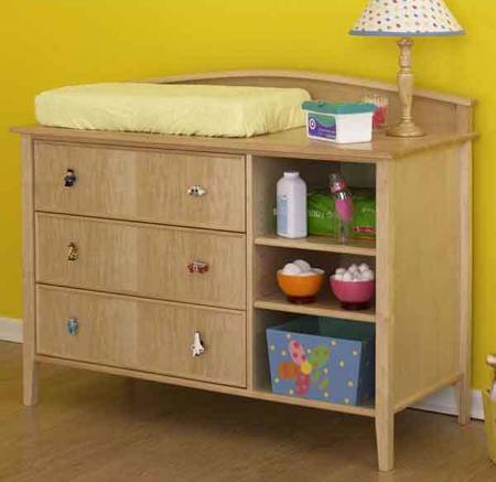 Double Duty Changing Table Dresser Woodworking Plan.