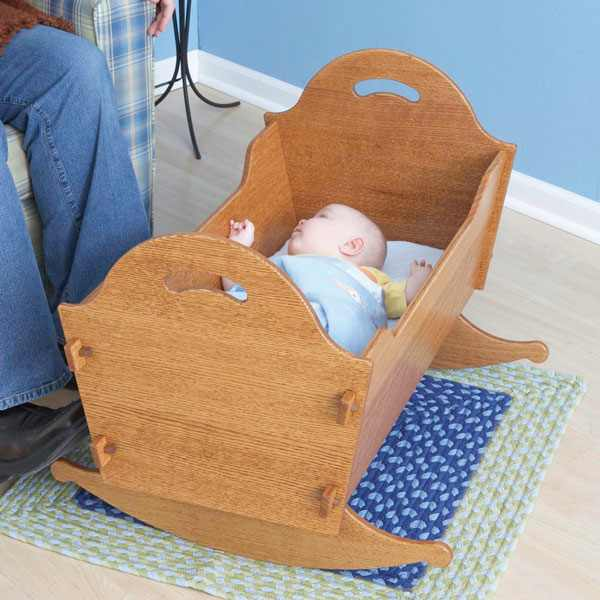 Heirloom Cradle with Storage Box Woodworking Plan.