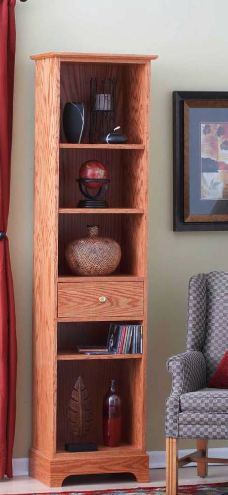 Slender and Simple Tower Shelves Woodworking Plan