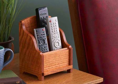 how to make a remote control holder plans