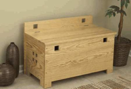 31-MD-00585 - Bench With Storage Woodworking Plan.