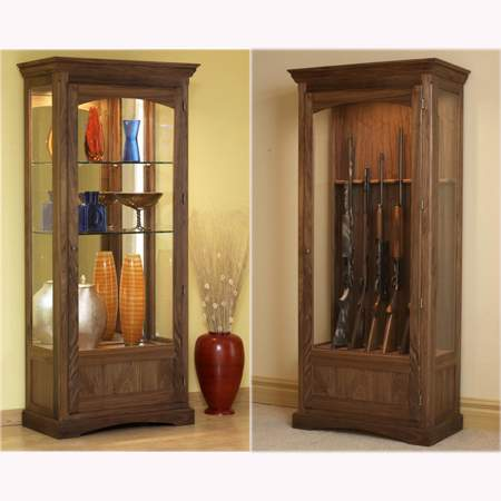 Convertible Display and Gun Cabinet woodworking Plan.