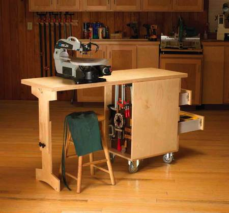 Shop Cart Workbench Woodworking Plan