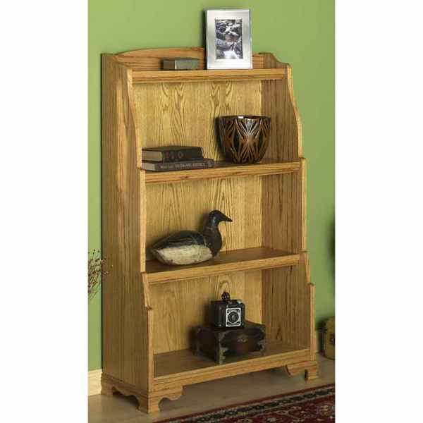 31-MD-00593 - Solid Oak Bookcase Woodworking Plan