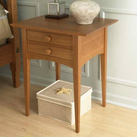 Pencil Post Bed Nightstand Woodworking Plan.