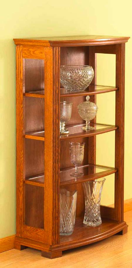Bow Front Display Case Woodworking Plan