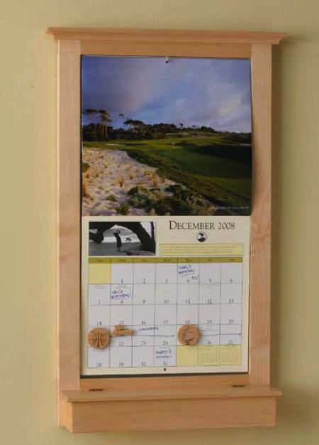 Calendar Keeper Frame Woodworking Plan