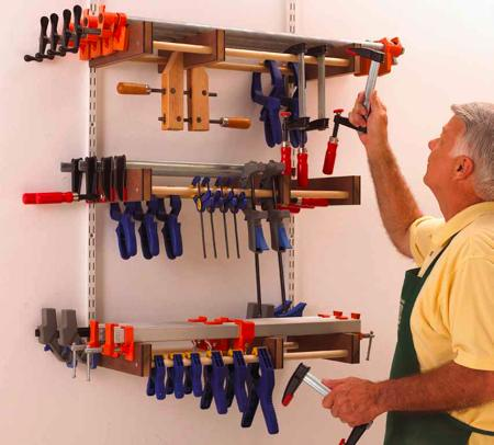 Universal Clamp Rack Woodworking Plan