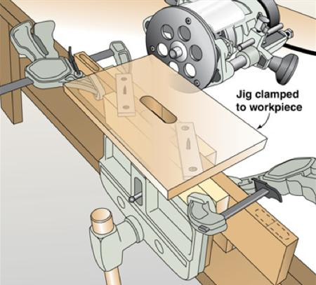 31-MD-00633 - Self Centering Mortising Jig Woodworking Plan