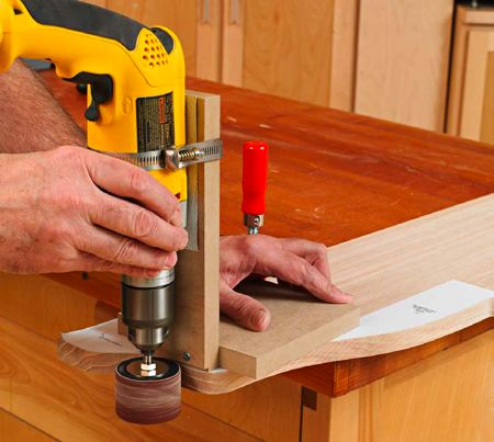 Portable Drum Sander Jig Woodworking Plan