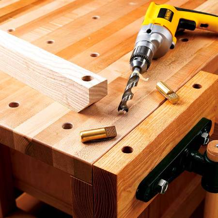 Hole Boring Guide Woodworking Plan