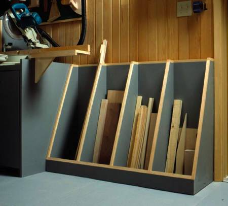 Cutoff Catchall Lumber Rack Woodworking Plan