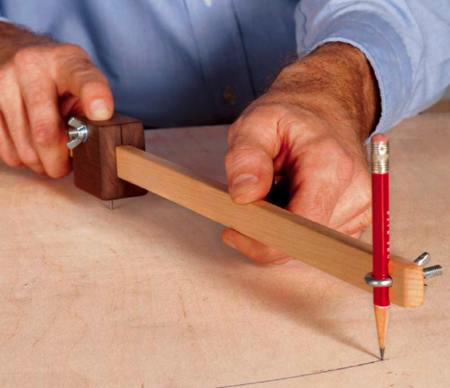 Scrap Wood Trammel Woodworking Plan