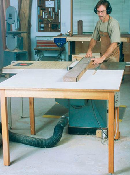 Double-Duty Outfeed Table Woodworking Plan