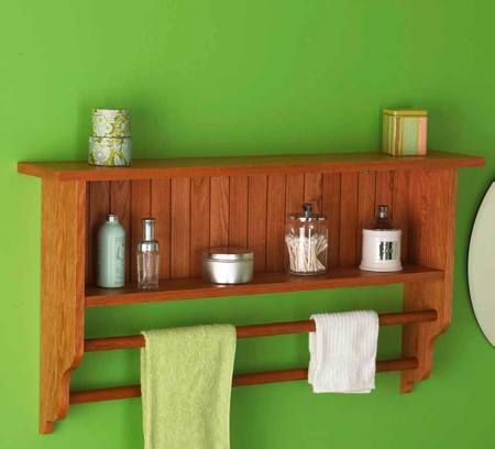 Wall Shelf and Towel Rack Woodworking Plan
