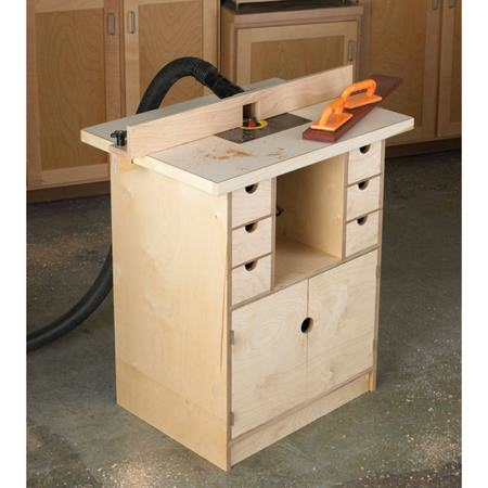 Router Table and Organizer Woodworking Plan