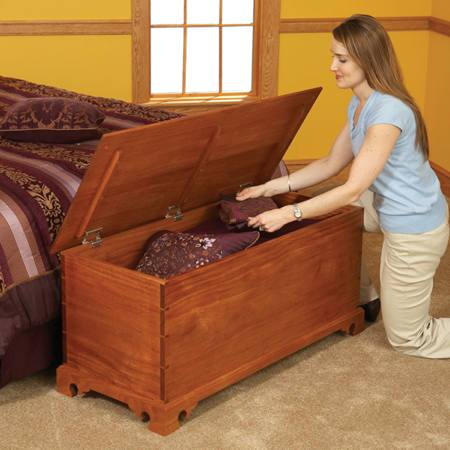 31-MD-00734 - Blanket Chest One Plan Three Styles Woodworking Plan.