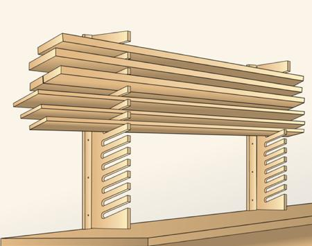Easy Access Stock Storage Woodworking Plan