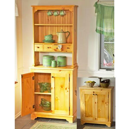 Country Pine Cabinet Woodworking Plan.