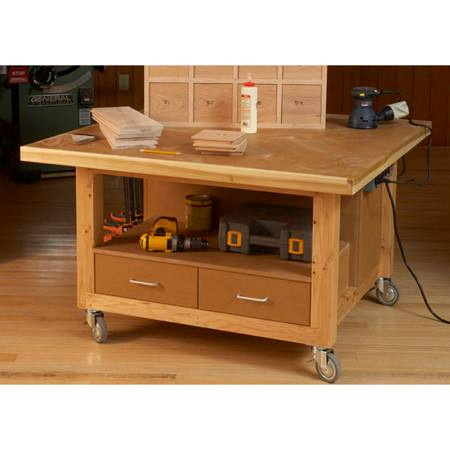 31-MD-00843 - Reliably Rugged Assembly Table Woodworking Plan.