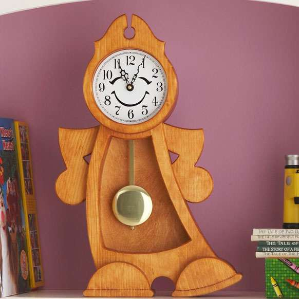 Jiggity-Diggity-Dock Dancing Clock Woodworking Plan