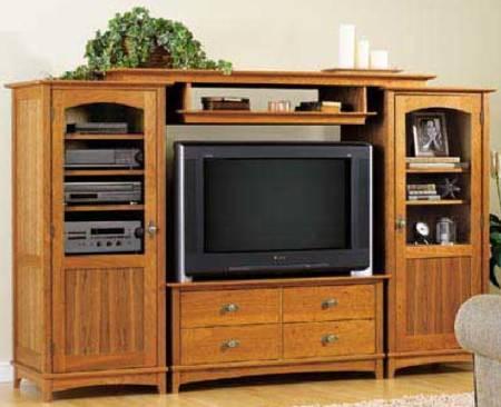 Entertainment Center Cabinet Set Woodworking Plan