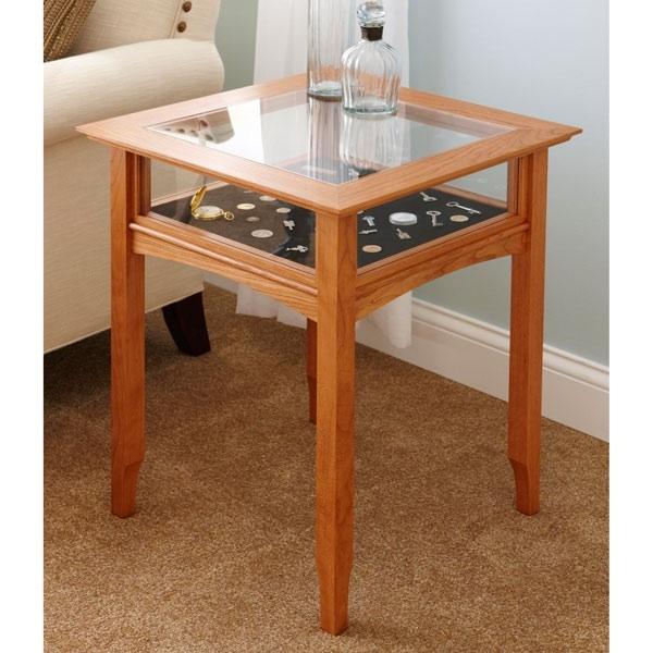 Glass Top Display Table Woodworking Plan Woodworkersworkshop