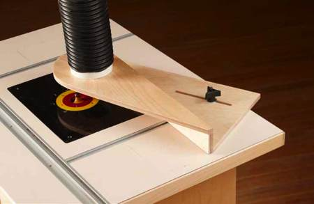 Router-Table Dust Hood Woodworking Plan