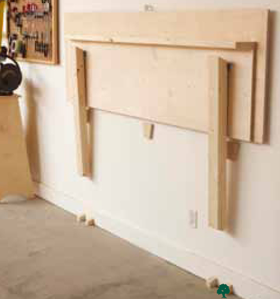Fold Flat Workbench Woodworking Plan