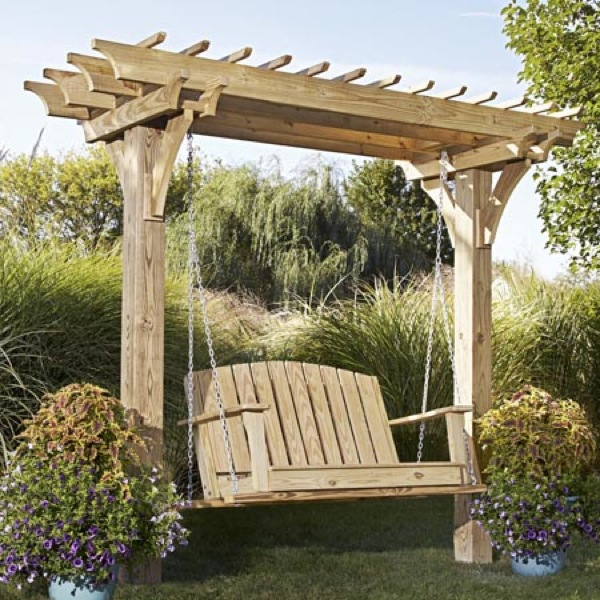 Easy Swingin Arbor Woodworking Plan.