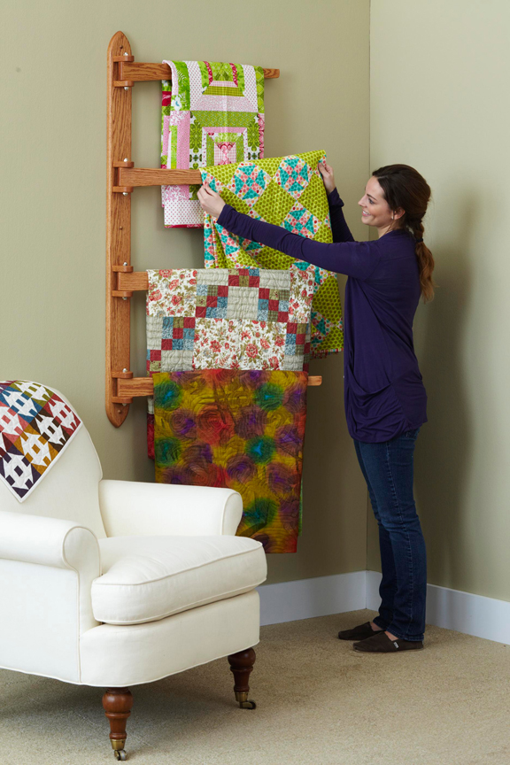 Swinging Arm Quilt Rack Woodworking Plan