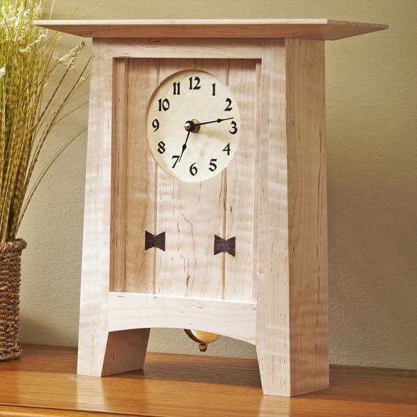 Bow Tie Clock Woodworking Plan